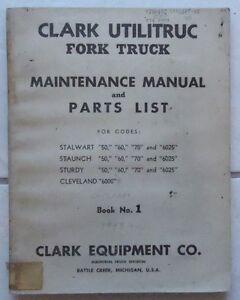 Clark fork Truck gcx25e manual