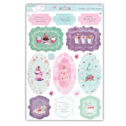 """Papermania lucy cromwell paillettes toppers /""""for you/"""" idéal pour cartes et artisanat"""