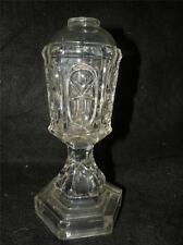 ANTIQUE EAPG BOSTON SANDWICH STAR & PUNTY GLASS WHALE OIL LAMP