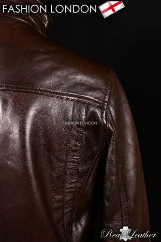 THUNDER Faded Brown Men/'s Real Lambskin Leather Short Aviator Bomber Jacket