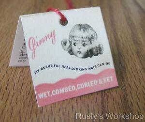 1950-039-s-VOGUE-doll-GINNY-Doll-Curler-Wrist-hang-TAG-Reproduction