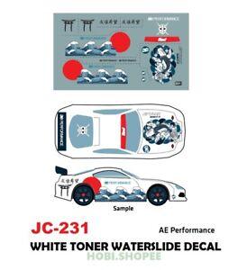 Jc 9231 White Toner Waterslide Decals Ae For Custom 1 64 Ebay