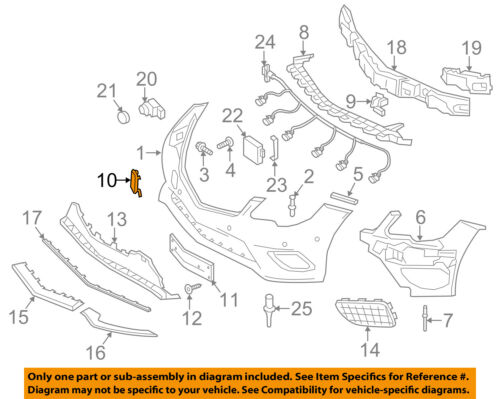Mercedes MERCEDES-BENZ OEM Front Bumper-Tow Hook Eye Cap Cover 20788510239775