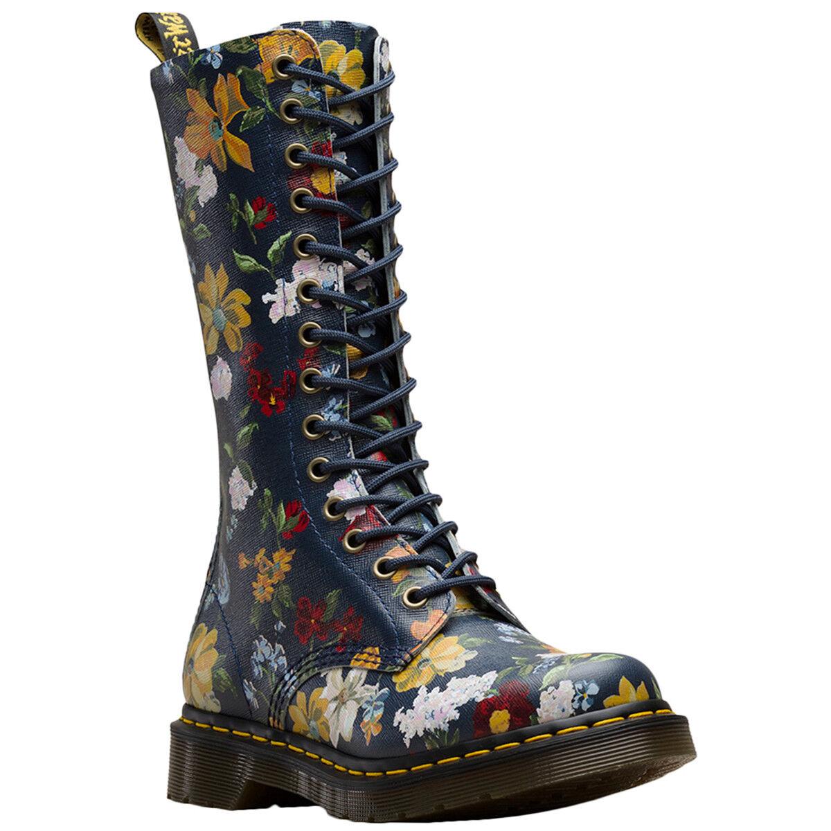 Dr. Martens 1b99 Darcy Darcy Darcy floral cuero Tall knee-High ZIP-Up señora botas  compra en línea hoy