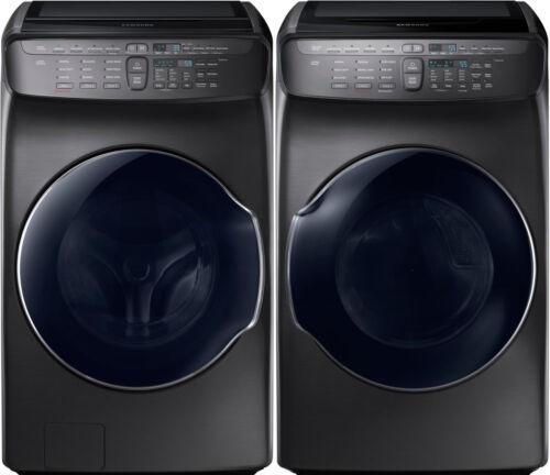 Samsung Black Stainless Flex Washer /& Electric Dryer WV55M9600AV and DVE55M9600V