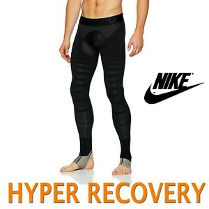 MEN-039-S-NIKE-PRO-HYPER-RECOVERY-COMPRESSION-TIGHTS-POST-GAME-812988-010-SMALL