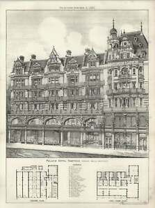 1887-The-Palace-Hotel-Hastings-Floor-Plans-And-Exterior-Arthur-Wells-Architect