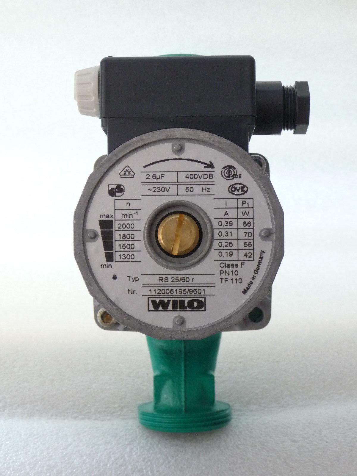 Wilo RS 25 / 60 R Heizungspumpe 180 mm 112006195 Umwälzpumpe 230 Volt NEU P128
