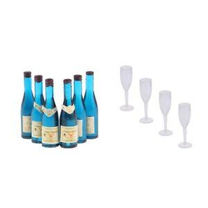 Set de Maison Poupée Miniature Bouteilles Vin Alcool