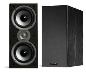 Polk-Audio-Monitor-40-Series-II-BLACK-Bookshelf-Speakers-NEW-PAIR
