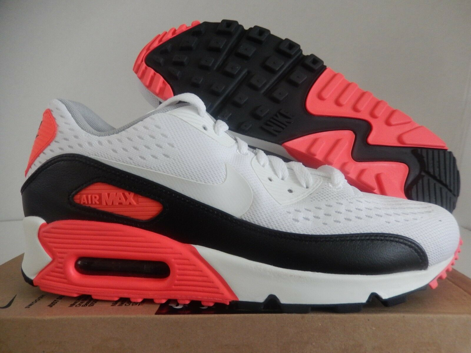 NIKE AIR MAX 90 EM ENGINEERED MESH WHITE-BLACK-INFRARED SZ 12 [554719-110]
