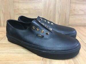 VANS Authentic Black Leather Gold Gore