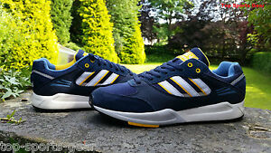 Adidas-Originals-Mens-Tech-Super-Trainers-Navy-Gold-amp-White-BNIBWT-UK-6-9-5