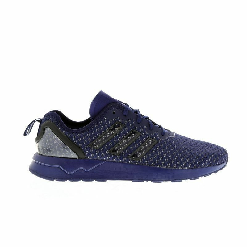 Mens ADIDAS ZX FLUX ADV Dark bluee Textile Synthetic Trainers AQ6752 RRP .99