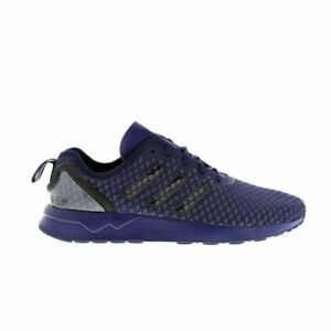 Mens ADIDAS ZX FLUX ADV Dark Blue Textile Synthetic Trainers AQ6752 RRP