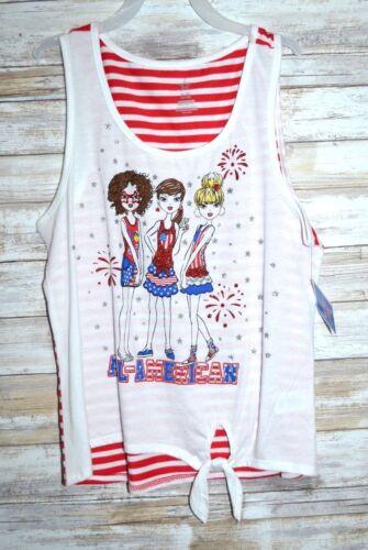 New Girls Shirt USA Size 7//8 14//16 All American Girls  USA  Red White Blue