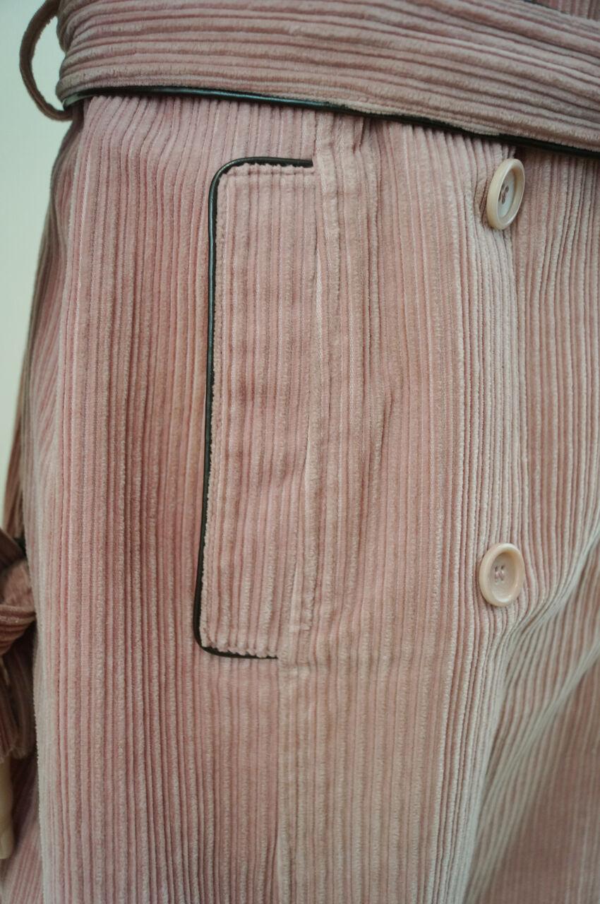 GERARD DAREL Pale Salmon Pink Cotton Corduroy Corduroy Corduroy Belted Winter Coat Sz 40 UK16 c27b9e