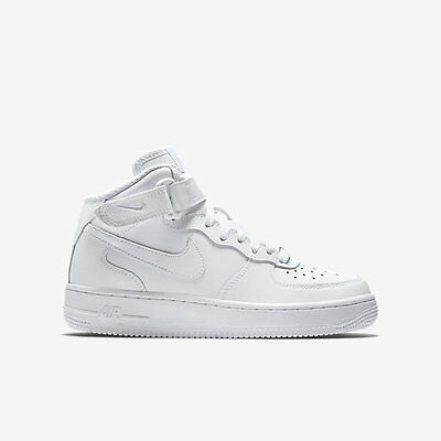 7067bedc8b0 Buy Nike Air Force 1 Mid White Boys Girls Youth Trainers SNEAKERS ...