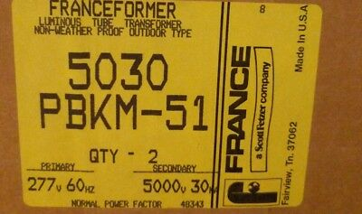 Franceformer 5030 PBKM-51 Gaseous Tube Transformer outdoor non-weatherproof