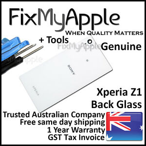 Sony Xperia Z1 L39h White Back Rear Battery Cover Glass Housing Replacement Tool