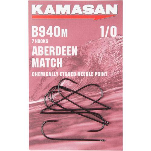 KAMASAN B940 M ABERDEEN MATCH B940M SEA FISHING HOOKS ALL SIZES FREE P/&P