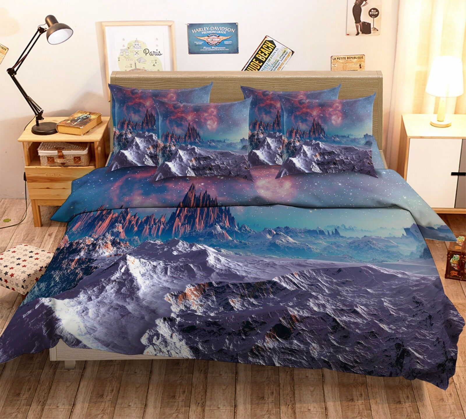 3D Mysterious World 7 Bed Pillowcases Quilt Duvet Cover Set Single Queen AU