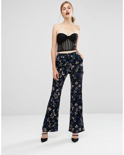 SELF-PORTRAIT Lace Sequined Trouser Size