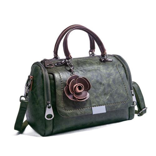 Genuine Leather Women/'s Boston Bag Cross Body Shoulder Bag Satchel Tote Handbags