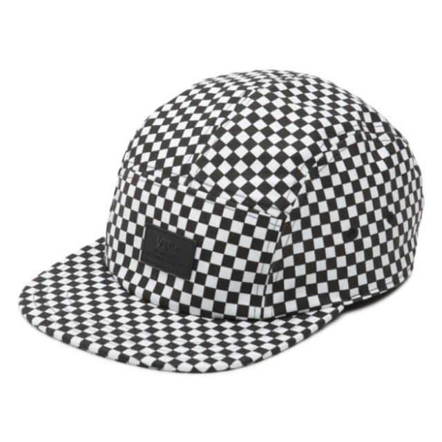 d2debdb082f Vans DAVIS 5 Panel Camper Hat (NEW) Mens Cap CHECKERS CHECKERBOARD Free  Shipping