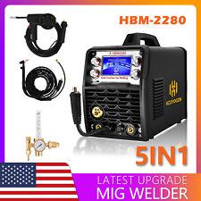 4 In1 Mig Welder 200a 110v 220v Gas Gasless Mig Tig Welding Machine Aluminum