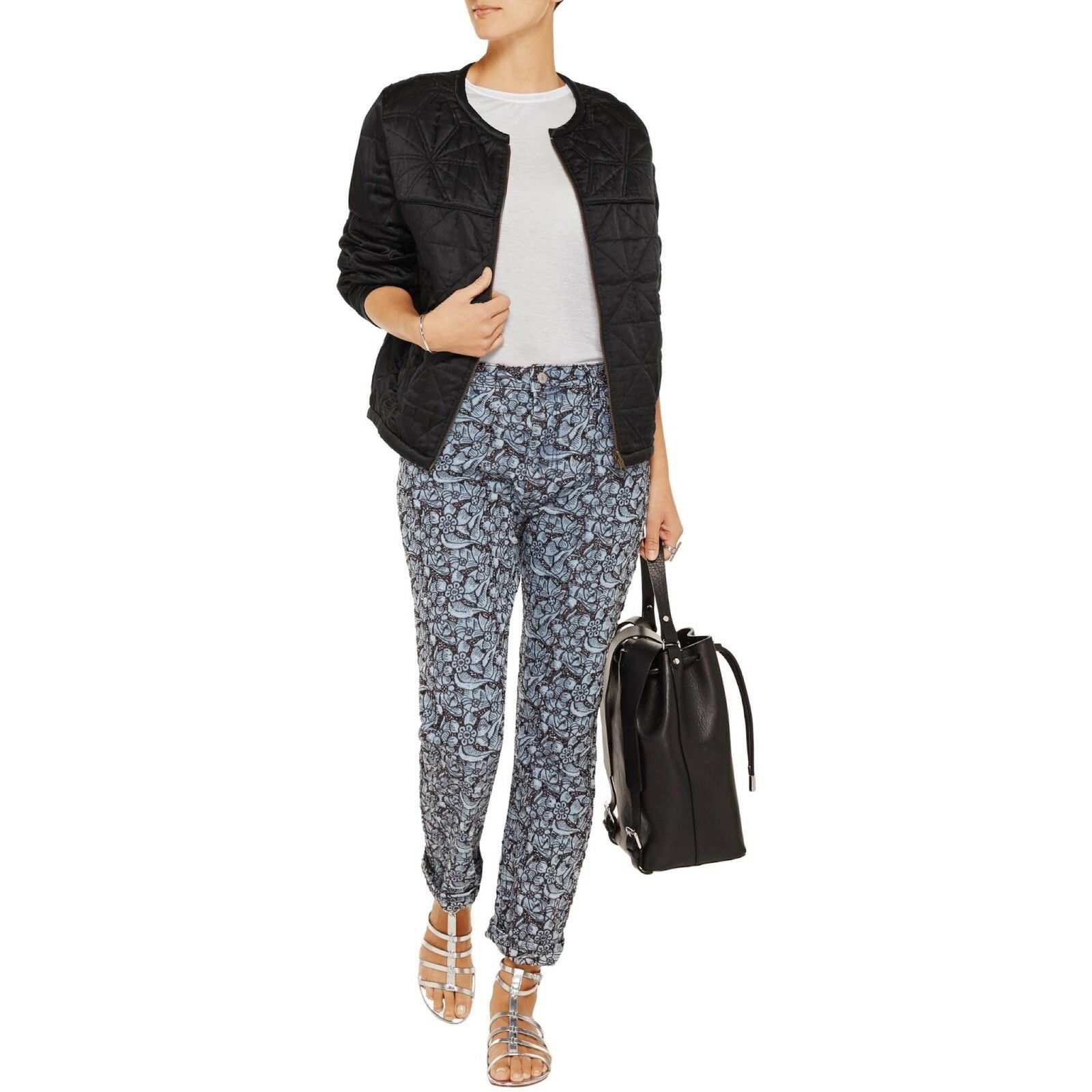 Isabel Marant Etoile Embroidered Maddy Boyfriend Jeans