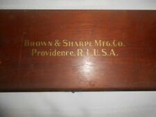 Brown Amp Sharpe 25 No 570 Inside Outside Vernier Caliper In Its Wooden Case