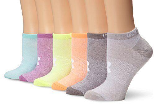 UNDLO Under Armour Girls Essential No-Show liner socks 6 Pairs