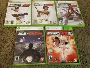 (Lot of 5) Major League Baseball Xbox 360 Games