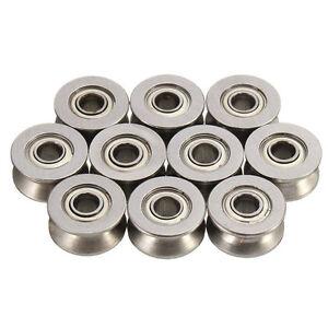 Carbon Steel UGroove Guide Pulley Sheave Sealed Rail Ball Bearing 604UU  5Pcs 6954116523790