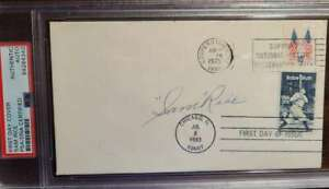 Sam Rice PSA DNA Coa Hand Signed Cooperstown FDC Cache Autograph