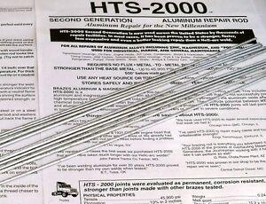 """5-18/"""" HTS-2000 2nd Generation Aluminum Welding Rods or Aluminum Repair Rods"""