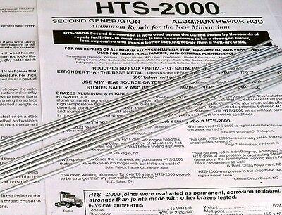 HTS 2000 Aluminum Repair Brazing welding rods 10 pcs
