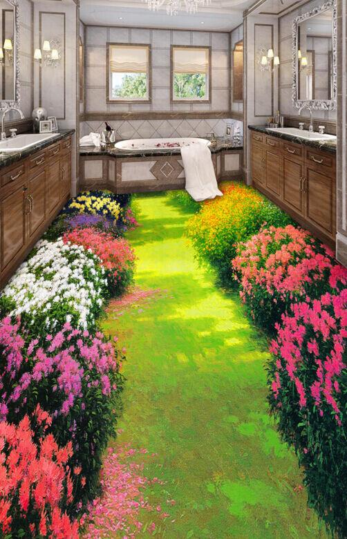 3D Fiore Di Farbee 370 Pavimento Foto Wallpaper Murales Muro Stampa Decalcomania
