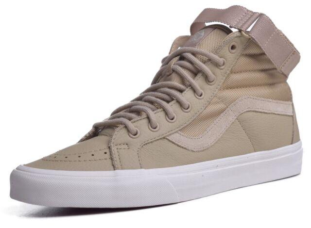VANS Sk8 Hi Reissue Leather Strap Shoes Sz 13