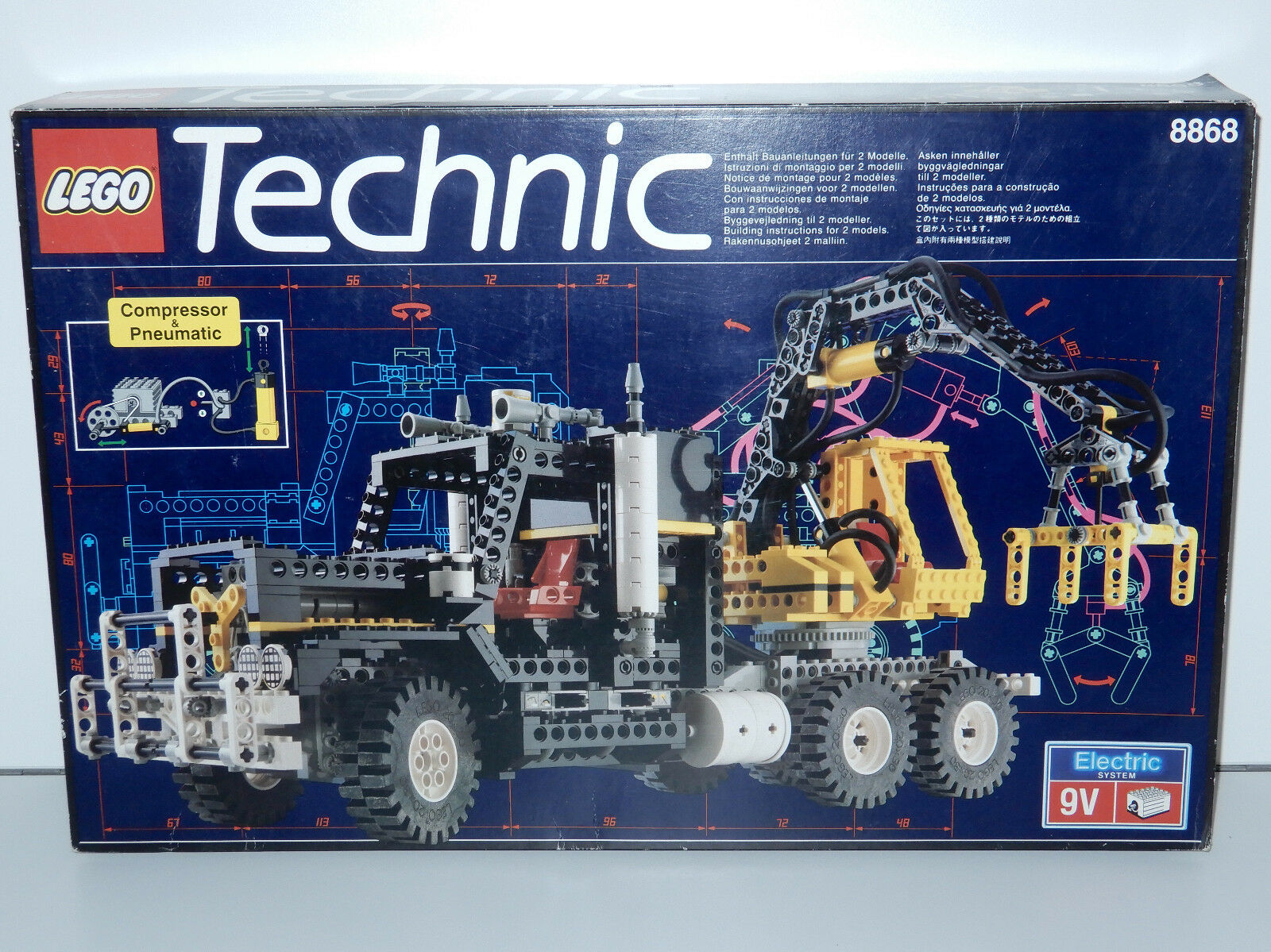 LEGO TECHNIC 8868 AIR TECH CLAW RIG 100% COMPLETE IN ORIGINAL BOX HTF