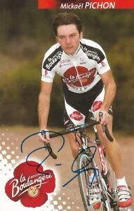 CYCLISME-carte-cycliste-MICHAEL-PICHON-equipe-LA-BOULANGERE-2004-signee