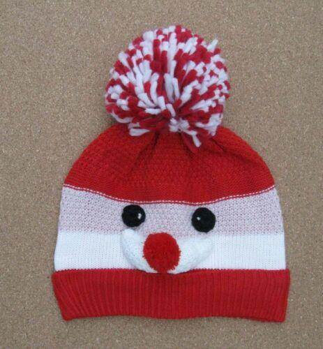 AJ Girls Boys  Kids BNWT Christmas Santa  Bobble Hat  Matalan
