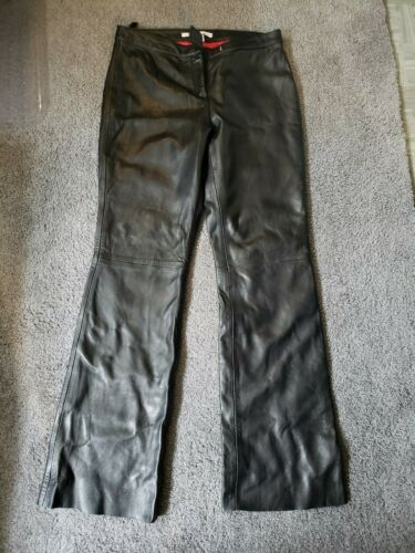 Tommy Hilfiger Leather Pants Size 10 Red Satin Lin
