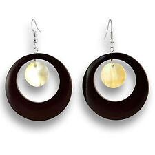 Ohrringe Design Holz Muschel Earrings Schmuck ER145