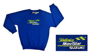 Kids-Childrens-Youth-Telefonica-Movistar-Suzuki-Sweatshirt-Top-Blue