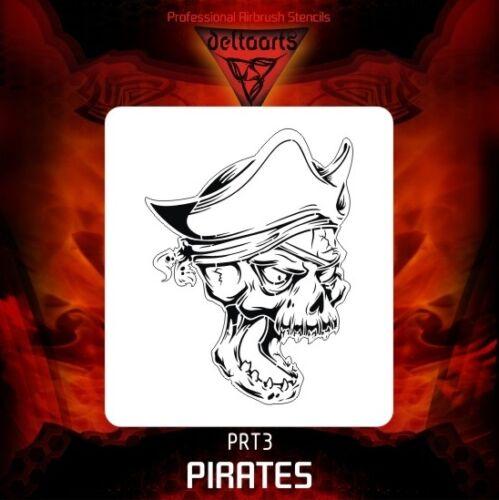 Aerógrafo de plantilla plantilla deltaarts Piratas serie pirata PRT3 Mini Mid XXL Nuevo