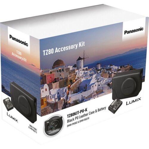 Panasonic LUMIX TZ80 Custodia in pelle e Batteria Kit di accessori-TZ80KIT-PU-K