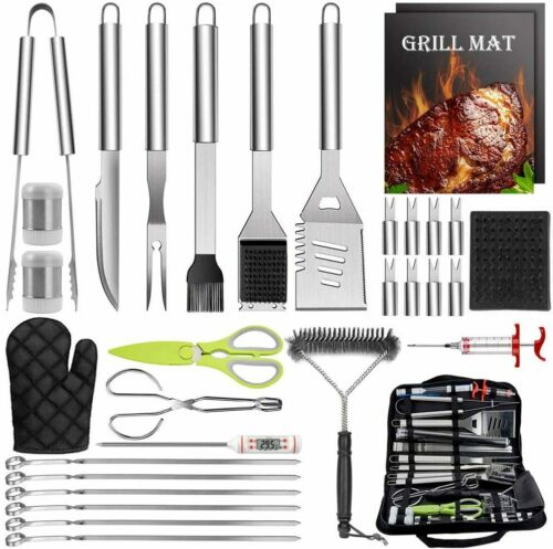 32 PCS Grilling Accessories BBQ Grill Set Stainless Steel Grill Tools with Stor