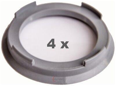4 x Zentrierringe Kunststoff 67.1mm auf 65.1mm hellgrau
